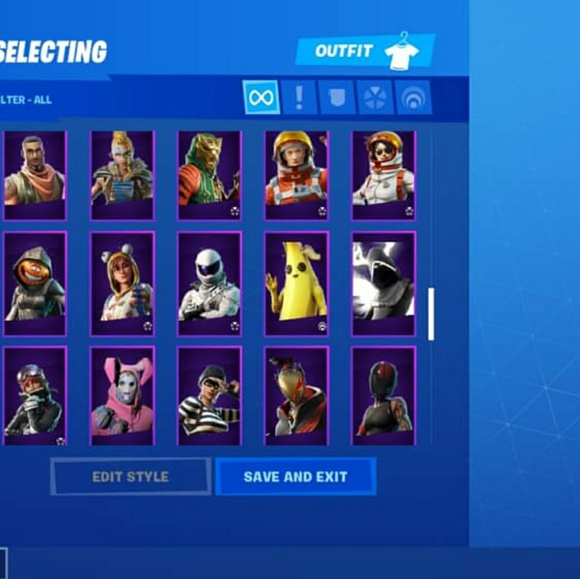 Fortnite Other Galaxy Ikonik The Reapervery Packed Account Poshmark